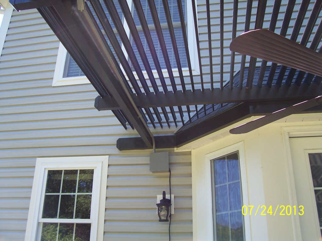 This American Louvered Roof Patio Cover Was Custom Fitted