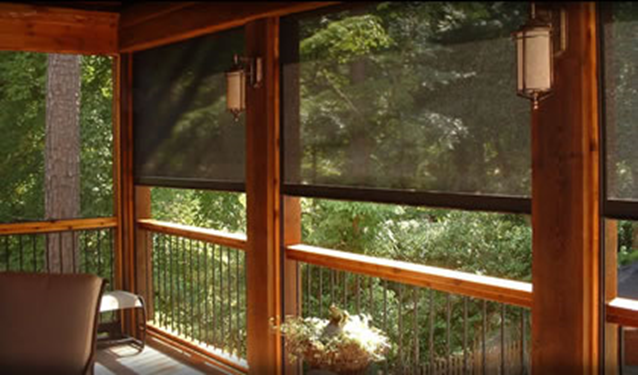 Solar shades screens palmetto outdoor spaces llc for Motorized exterior solar shades