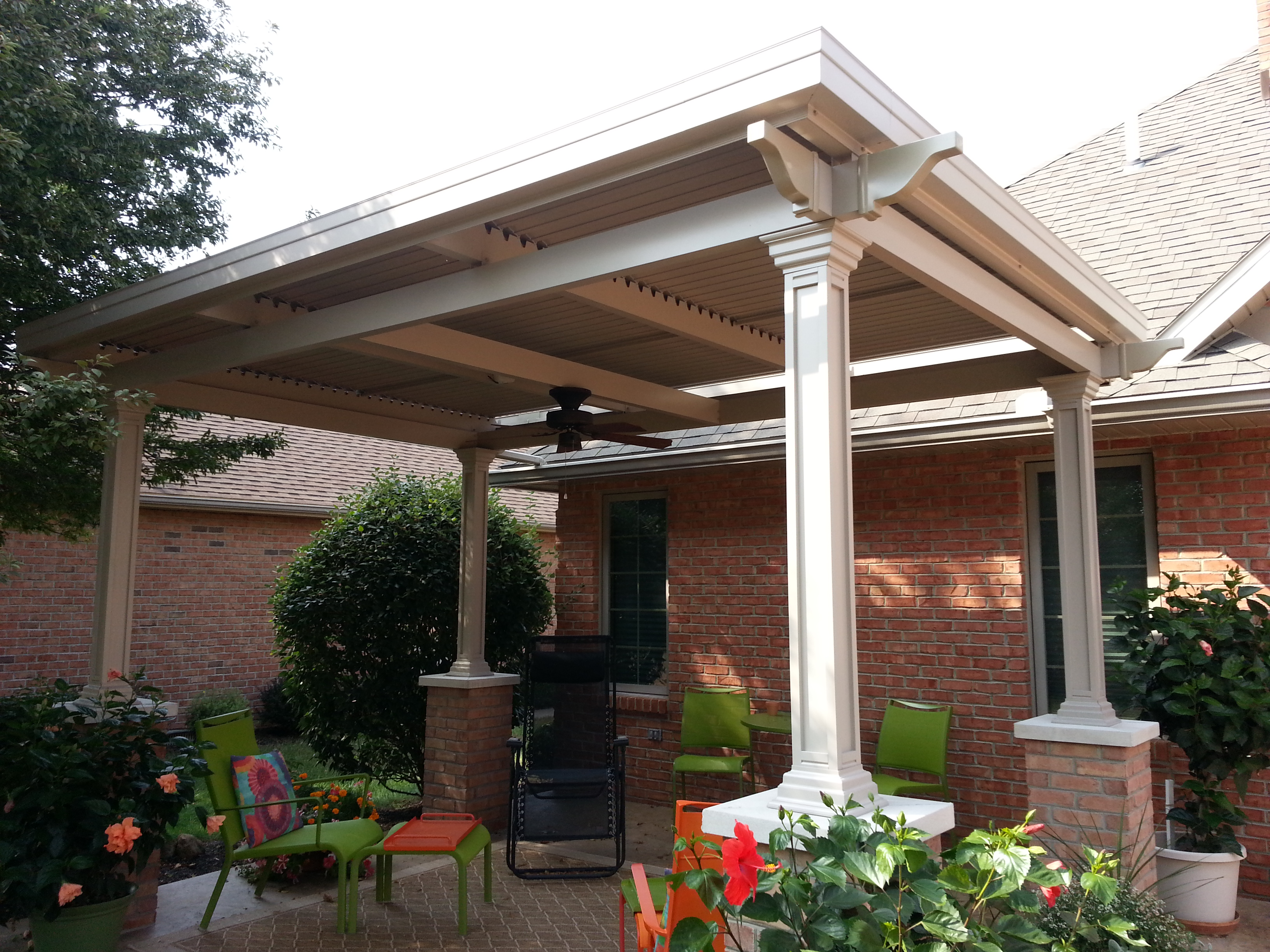 Add A Freestanding Louvered Patio Cover Over Your Deck Or