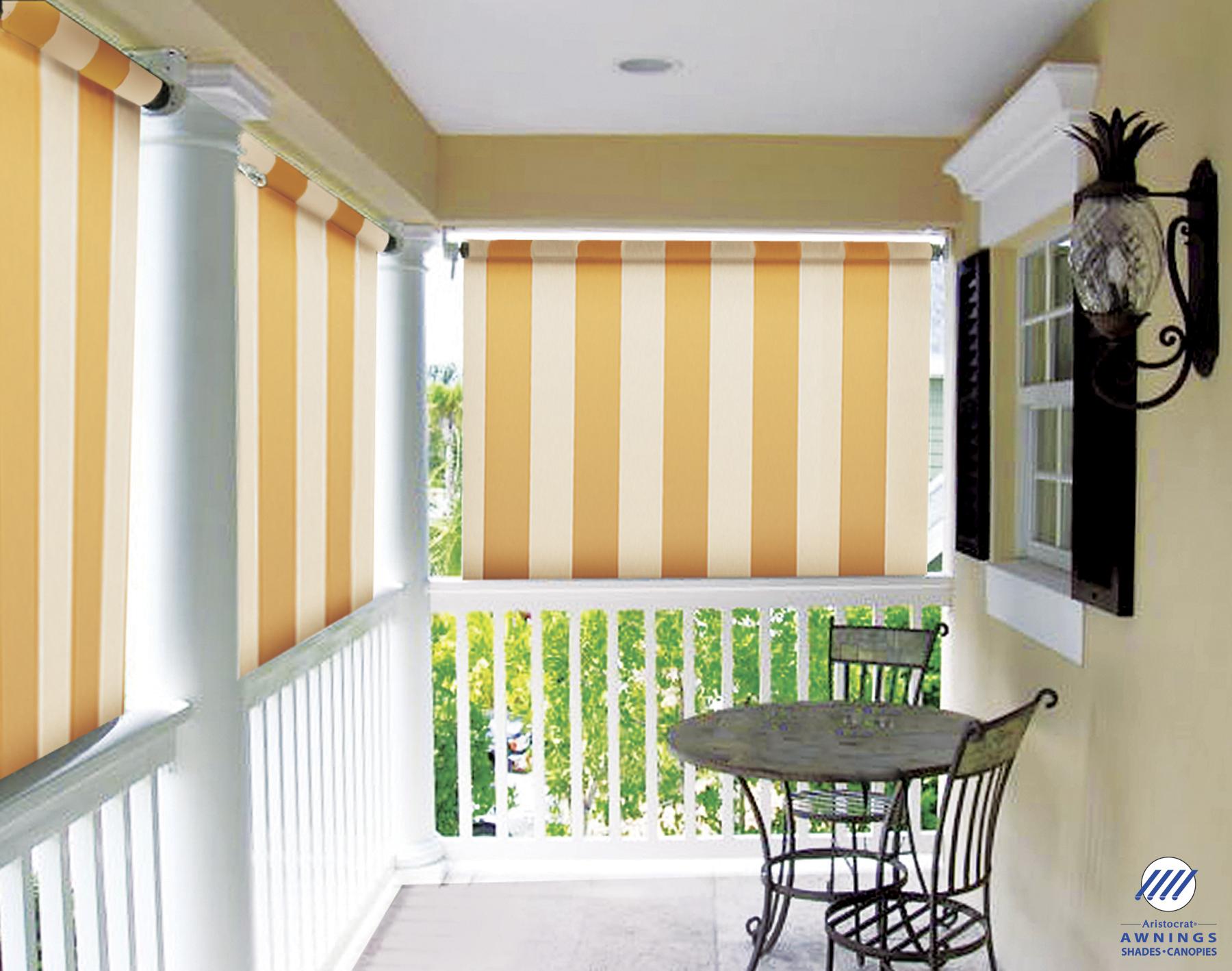 Drop Down Porch Shades Provide Privacy Block Heat And Sun