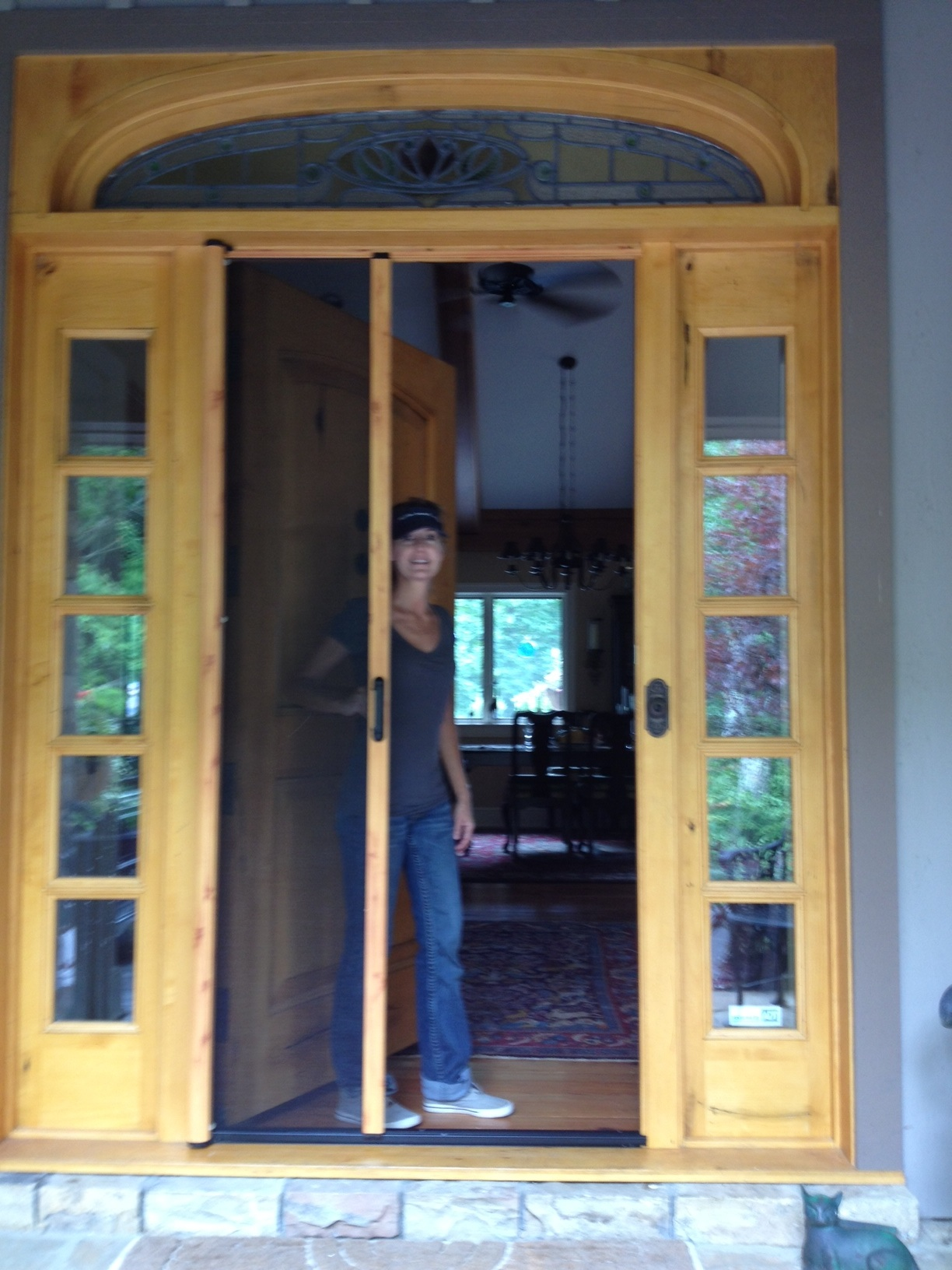 Clear view retractable screens are great for front for Hideaway retractable screens
